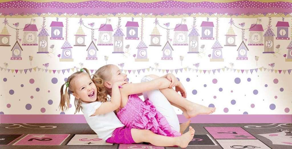 Carta da parati per bambini arte del parato for Carta da parati bimbi